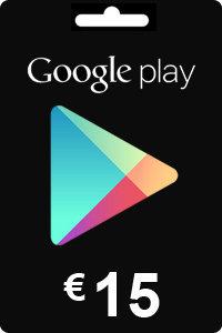 Google Play Gift Card 15 EURO