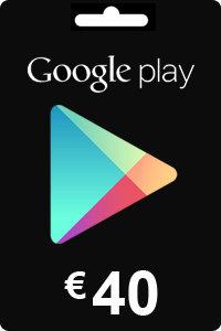 Google Play Gift Card 40 EURO
