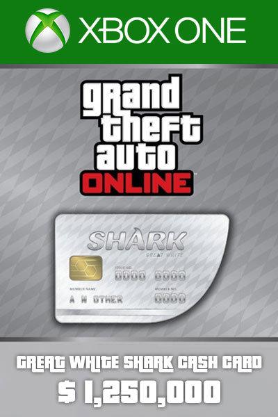 Great White Shark Card 1,250,000 USD