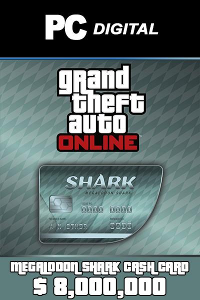 Megalodon Shark Cash Card 8,000,000 USD