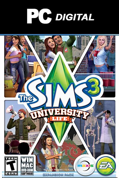 The Sims 3: University Life DLC PC