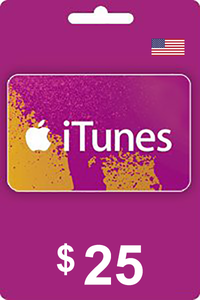 iTunes Gift Card 25 USD USA
