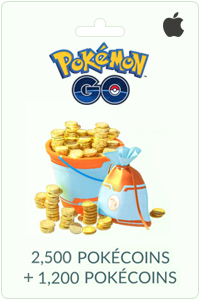 2500 + 1200 Pokécoins - iPhone NL