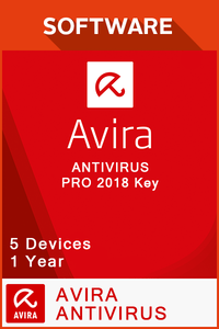 Avira Antivirus Pro 2018 1 Year - 5 Devices