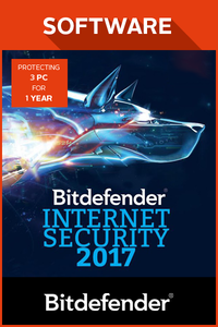 Bitdefender Internet Security 2017 3PC 1 year