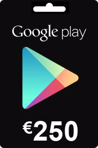 Google Play Gift Card 250 EURO