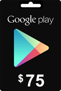 Google Play Gift Card 75 USD