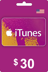 iTunes Gift Card 30 USD USA