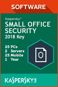 Kaspersky Small Office Security 25 PC / 2 Servers / 25 Mobile / 1 Year