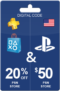PlayStation Store 20% off + $50 PSN = $60 Game*