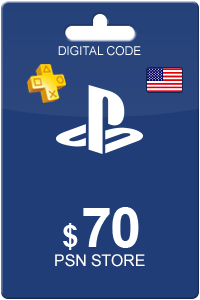 Playstation Network Card 70 USD