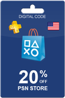 PlayStation Store Card 20% Off