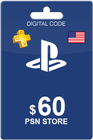 Playstation Network Card 60 USD