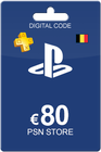Playstation Network Card 80 Euro BE
